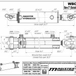 3 bore x 14 stroke hydraulic cylinder, ag clevis double acting cylinder | Magister Hydraulics