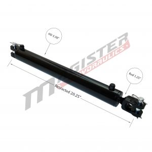 3 bore x 8 ASAE stroke hydraulic cylinder, ag clevis double acting cylinder | Magister Hydraulics