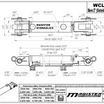 2 bore x 12 stroke hydraulic cylinder, welded clevis double acting cylinder | Magister Hydraulics