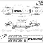 2 bore x 20 stroke hydraulic cylinder, welded clevis double acting cylinder | Magister Hydraulics