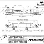 2 bore x 6 stroke hydraulic cylinder, welded clevis double acting cylinder | Magister Hydraulics