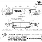 2.5 bore x 4 stroke hydraulic cylinder, welded clevis double acting cylinder | Magister Hydraulics