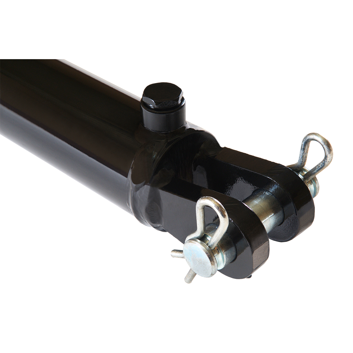 2.5 bore x 18 stroke hydraulic cylinder, welded clevis double acting cylinder | Magister Hydraulics