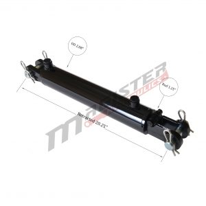 2.5 bore x 8 ASAE stroke hydraulic cylinder, welded clevis double acting cylinder | Magister Hydraulics