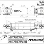 3 bore x 16 stroke hydraulic cylinder, welded clevis double acting cylinder | Magister Hydraulics