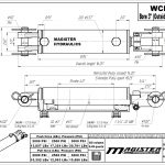 3 bore x 4 stroke hydraulic cylinder, welded clevis double acting cylinder | Magister Hydraulics