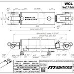 3.5 bore x 14 stroke hydraulic cylinder, welded clevis double acting cylinder | Magister Hydraulics