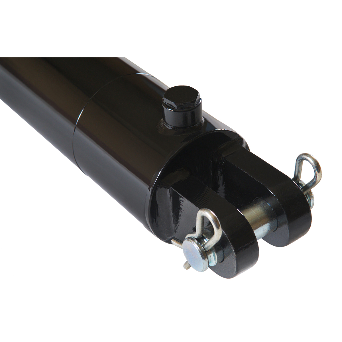 3.5 bore x 24 stroke hydraulic cylinder, welded clevis double acting cylinder   Magister Hydraulics