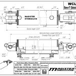 4 bore x 20 stroke hydraulic cylinder, welded clevis double acting cylinder | Magister Hydraulics