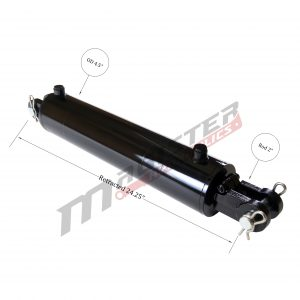 4 bore x 14 stroke hydraulic cylinder, welded clevis double acting cylinder | Magister Hydraulics
