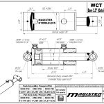 3.5 bore x 18 stroke hydraulic cylinder, welded cross tube double acting cylinder | Magister Hydraulics