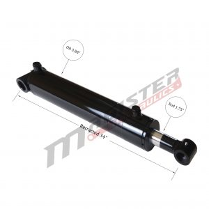 3.5 bore x 24 stroke hydraulic cylinder, welded cross tube double acting cylinder | Magister Hydraulics