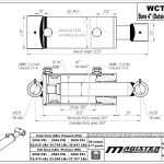 4 bore x 10 stroke hydraulic cylinder, welded cross tube double acting cylinder | Magister Hydraulics
