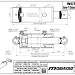 4 bore x 42 stroke hydraulic cylinder, welded cross tube double acting cylinder | Magister Hydraulics