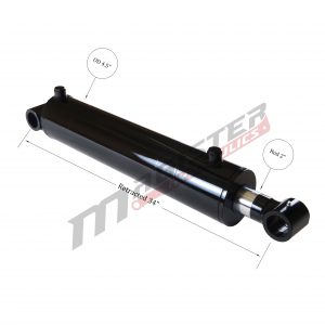 4 bore x 24 stroke hydraulic cylinder, welded cross tube double acting cylinder | Magister Hydraulics