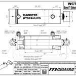 5 bore x 30 stroke hydraulic cylinder, welded cross tube double acting cylinder   Magister Hydraulics