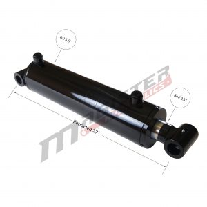 5 bore x 16 stroke hydraulic cylinder, welded cross tube double acting cylinder | Magister Hydraulics