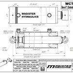 6 bore x 24 stroke hydraulic cylinder, welded cross tube double acting cylinder | Magister Hydraulics