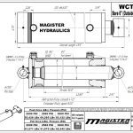 6 bore x 36 stroke hydraulic cylinder, welded cross tube double acting cylinder | Magister Hydraulics