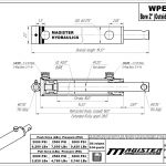 2 bore x 10 stroke hydraulic cylinder, welded pin eye double acting cylinder | Magister Hydraulics