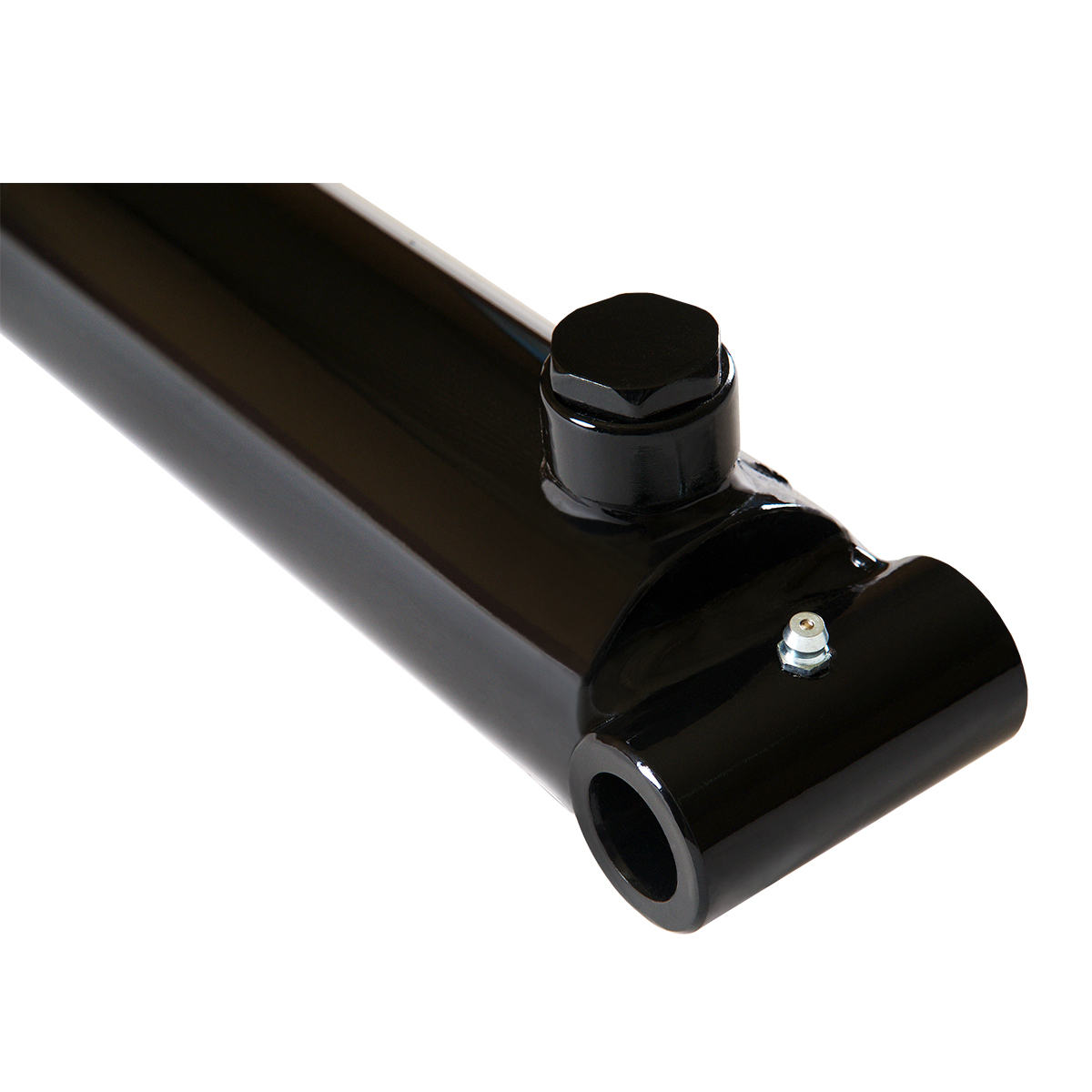 2 bore x 8 stroke hydraulic cylinder, welded pin eye double acting cylinder | Magister Hydraulics
