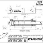 2.5 bore x 36 stroke hydraulic cylinder, welded pin eye double acting cylinder | Magister Hydraulics