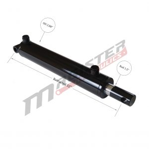 2.5 bore x 24 stroke hydraulic cylinder, welded pin eye double acting cylinder | Magister Hydraulics