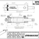 3 bore x 12 stroke hydraulic cylinder, welded pin eye double acting cylinder | Magister Hydraulics