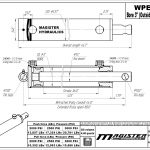 3 bore x 36 stroke hydraulic cylinder, welded pin eye double acting cylinder | Magister Hydraulics