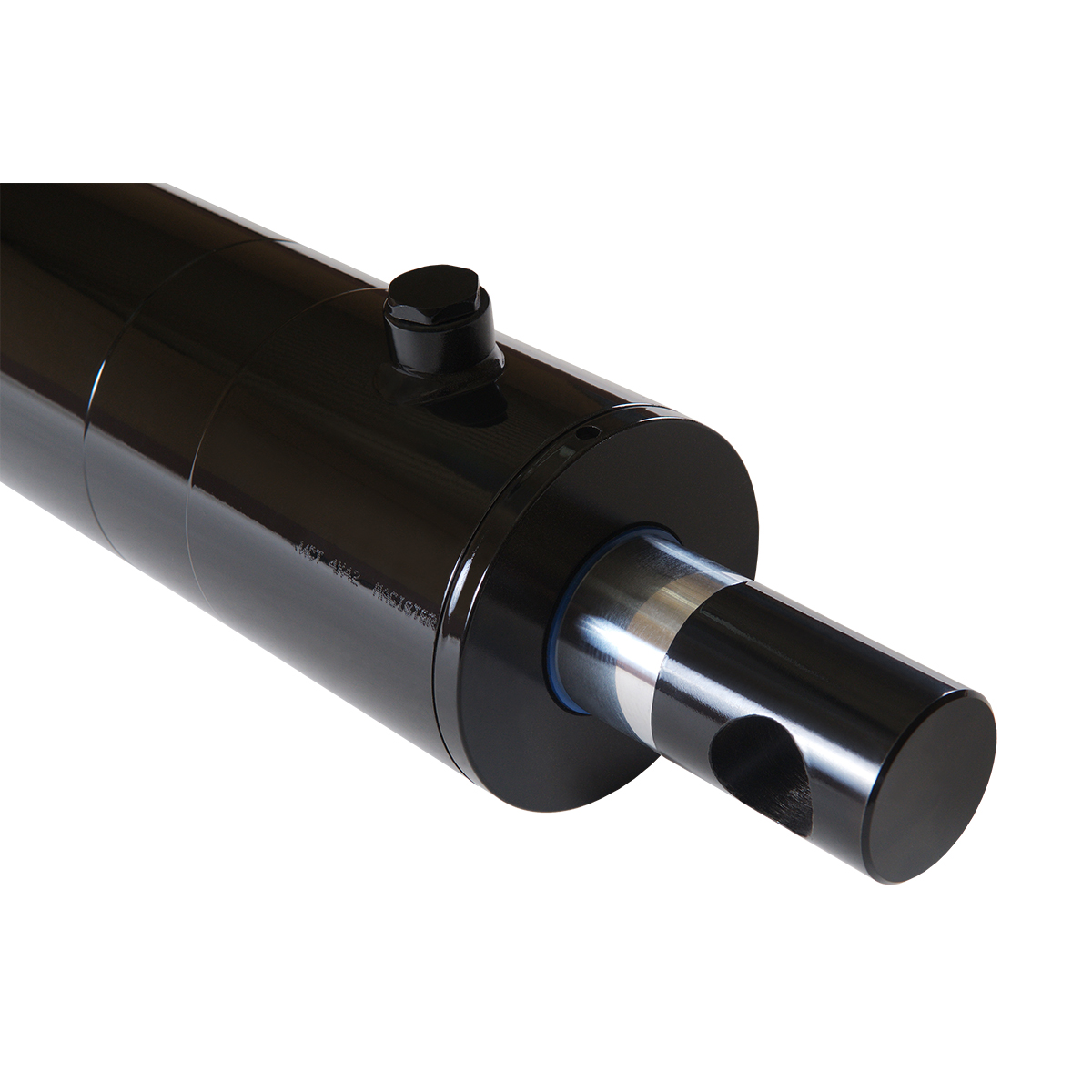 4 bore x 10 stroke hydraulic cylinder, welded pin eye double acting cylinder   Magister Hydraulics