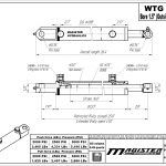 1.5 bore x 16 stroke hydraulic cylinder, welded tang double acting cylinder   Magister Hydraulics