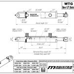 1.5 bore x 22 stroke hydraulic cylinder, welded tang double acting cylinder | Magister Hydraulics