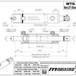 2.5 bore x 24 stroke hydraulic cylinder, welded tang double acting cylinder | Magister Hydraulics
