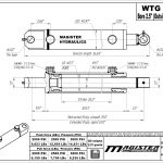 2.5 bore x 26 stroke hydraulic cylinder, welded tang double acting cylinder   Magister Hydraulics