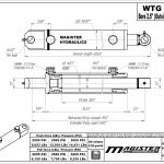 2.5 bore x 30 stroke hydraulic cylinder, welded tang double acting cylinder   Magister Hydraulics