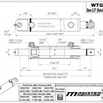 2.5 bore x 8 stroke hydraulic cylinder, welded tang double acting cylinder | Magister Hydraulics