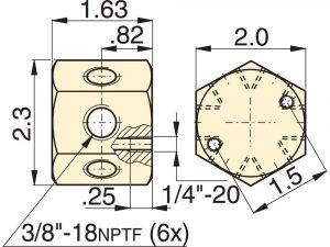 Enerpac A66   Hydraulic Manifold   6 Port, Hexagon   Magister