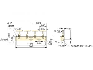 Enerpac AM21 | Hydraulic Manifold, 5-port Split-Flow | Magister