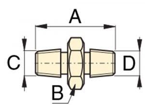 "Enerpac FZ1617   High Pressure Hex Nipple Fitting, 3/8"" NPTF Male to 3/8"" NPTF Male   Magister"