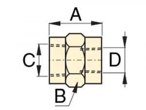 "Enerpac FZ1614 | High Pressure Coupling , 3/8"" NPTF Female to 3/8"" NPTF Female | Magister"