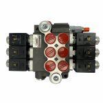 3 spool x 13 GPM solenoid hydraulic control valve, monoblock cast iron valve   Magister Hydraulics