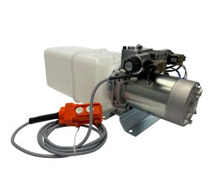 double acting 6 quarts plastic reservoir hydraulic power unit 12V DC by Hydro-Pack | Magister Hydraulics