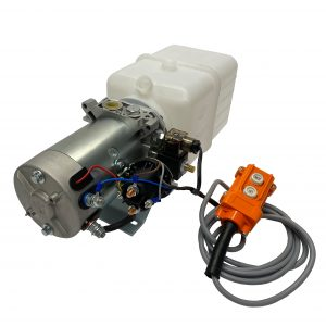 single acting 6 quarts plastic reservoir hydraulic power unit 12V DC by Hydro-Pack | Magister Hydraulics