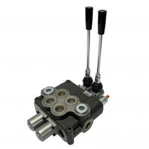 2 spool x 32 GPM hydraulic control valve, monoblock cast iron valve | Magister Hydraulics