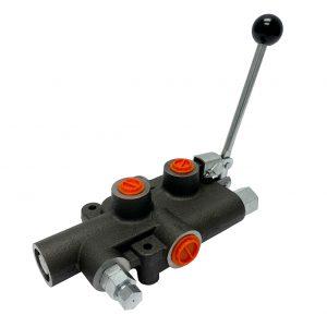 1 spool x 21 GPM hydraulic log splitter high speed control valve, monoblock cast iron valve | Magister Hydraulics