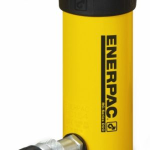 "Enerpac RC-156 Single Acting 15 Ton Cylinder in Alloy Steel Single Acting 15 Ton Weight Capacity 10,000 PSI Alloy Steel Composition for Strength and Durability Coupler and Dust Cap (CR-400) Included One Year Manufacturer's Warranty View: Enerpac RC Cylinders Brochure Product Specifications: Stroke: 6.00"" Cylinder Effective Area: 3.14"" Oil Capacity: 18.85"" Collapsed Height: 10.69"" Extended Height: 16.69"" Outside Diameter: 2.75"" Cylinder Bore Diameter: 2.00"" Plunger Diameter: 1.63"" Saddle Diameter: 1.50"" Saddle Protrusion From Plunger: .38"" Plunger Internal Thread: 1""-8 Plunger Thread Length: 1.00"" Bolt Circle Diameter: 1.88"" Thread Size: 3/8""-16 Thread Depth: .50"" Collar Thread: 2 3/4""-16 Collar Thread Length: 1.19"" Weight: 15 lbs."