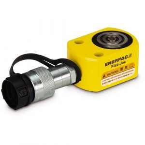 "Enerpac RSM100 | Flat-Jac Hydraulic Cylinder, Single Acting, Low Height, CR-400 Coupler and Dust Dap Included, 10-Ton, 0.44"" Stroke 