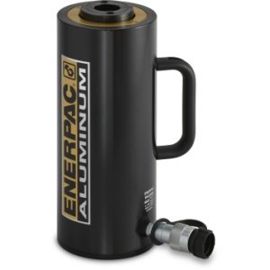 """Enerpac RACH3010   Hollow Plunger Hydraulic Cylinder, Single Acting, Aluminum, 30-Ton, 9.84"""" Stroke   Magister"""