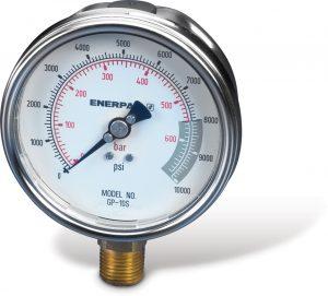 "Enerpac GP10S | Hydraulic Pressure Gauge, 4"" Gauge Face, 10,000 PSE | Magister"