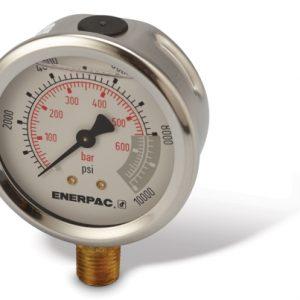 "Enerpac G2535L | Hydraulic Pressure Gauge, 2.50"" Display, 700 BAR, Lower Mount | Magister"